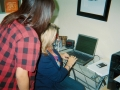 Jennifer Foster teaching Sabrina Ortiz how to download blueprints