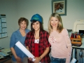 Wanda Foxworth and Sabrina Ortiz and Tangela Bailey at Pinnacle Landscapes office on 3-6-12